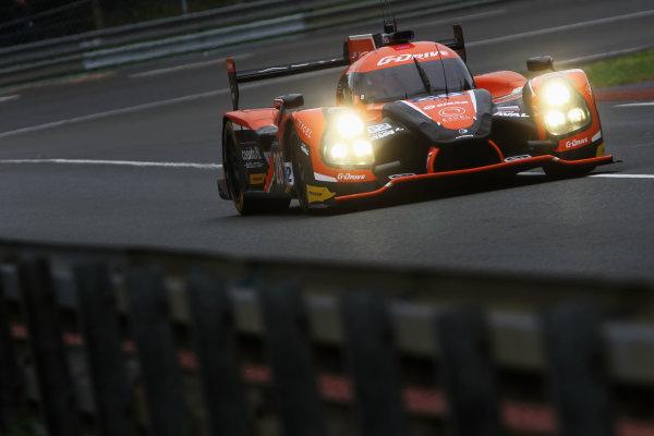 2015 Le Mans 24 Hours Test Day, Le Mans, France. 31st May 2015. Gustavo Yacaman / Luis Felipe Derani / Ricardo Gonzalez G-Drive Racing Ligier JS P2 Nissan. World Copyright: Ebrey / LAT Photographic.