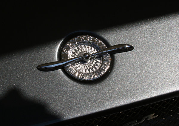 Goodwood, England. 3rd July 2009.  Spyker badge detail.  World Copyright: Daniel R.Hutton/LAT  Photographic Ref: Digital Image IMG_8414a