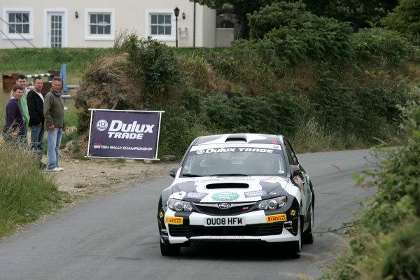Isle of Man. 9th - 10th July 2010.Alan Cookson/Julian Wilkinson - Wiseman Dairies Subaru Impreza N15.World Copyright: Ebrey LAT Photographic.