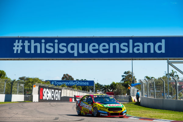2017 Supercars Championship Round 7.  Townsville 400, Reid Park, Townsville, Queensland, Australia. Friday 7th July to Sunday 9th July 2017. Chaz Mostert drives the #55 Supercheap Auto Racing Ford Falcon FGX. World Copyright: Daniel Kalisz/ LAT Images Ref: Digital Image 070717_VASCR7_DKIMG_664.jpg