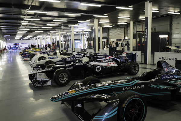 Williams 40 Event Silverstone, Northants, UK Friday 2 June 2017. A line-up of Williams-related cars, including Grand Prix machinery, Jaguar Formula E car and BMW Le Mans winner. World Copyright: Zak Mauger/LAT Images ref: Digital Image _56I9380