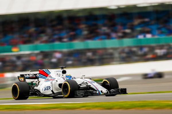 Silverstone, Northamptonshire, UK.  Friday 14 July 2017. Felipe Massa, Williams FW40 Mercedes. World Copyright: Glenn Dunbar/LAT Images  ref: Digital Image _X4I3411