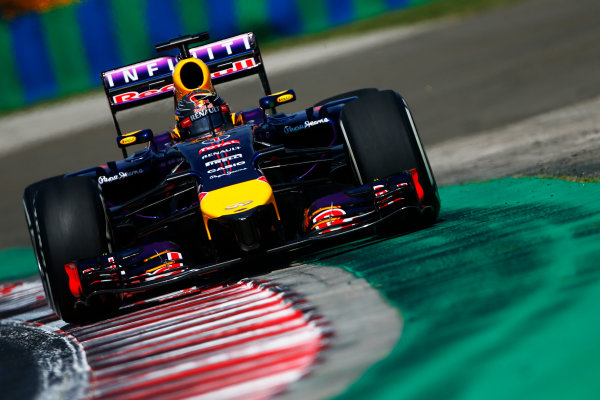 Hungaroring, Budapest, Hungary. Friday 25 July 2014. Sebastian Vettel, Red Bull Racing RB10 Renault. World Copyright: Andy Hone/LAT Photographic. ref: Digital Image _ONZ9132