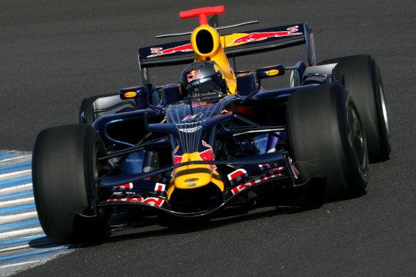 Sebastian Vettel (GER) Red Bull Racing RB4.  Formula One Testing, Jerez, Spain, Tuesday 16 December 2008