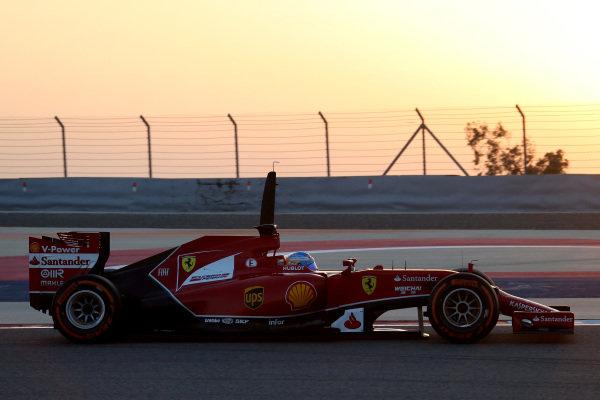 Fernando Alonso (ESP) Ferrari F14 T. Formula One Testing, Day One, Bahrain International Circuit, Sakhir, Bahrain, Wednesday 19 February 2014.