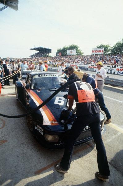 Le Mans, France. 9th - 10th June 1979.Ted Field/Milt Minter/John Morton (Porsche 935), retired, pit stop action. World Copyright: LAT Photographic.Ref: 79LM22.
