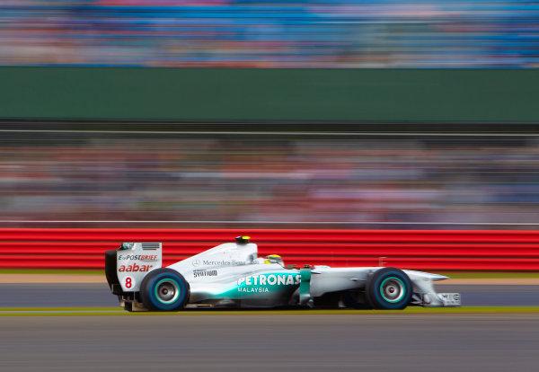 Silverstone, Northamptonshire, England 9th July 2011 Nico Rosberg, Mercedes GP W02. Action.  World Copyright: Steve Etherington/LAT Photographic ref: Digital Image SNE22024