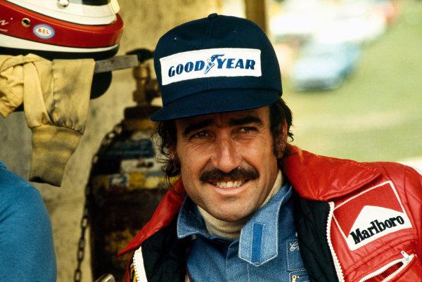 Brands Hatch, England. 18 - 20 July 1974.Clay Regazzoni (Ferrari 312B3), 4th position, portrait. World Copyright: LAT Photographic.Ref:  74GB