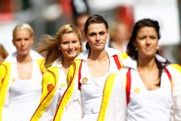 Spa - Francorchamps, Spa, Belgium. 28th August. Sunday Race. Grid girls.Photo: Glenn Dunbar/GP2 Media Service. Ref: _G7C7744 jpg