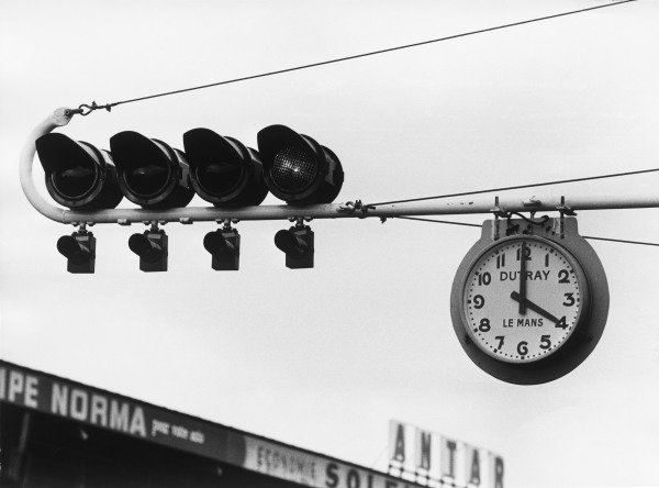 Le Mans, France. 28 - 29 September 1968.The famous clock at the start of the race, atmosphere.World Copyright: LAT Photographic.Ref:  B/WPRINT.
