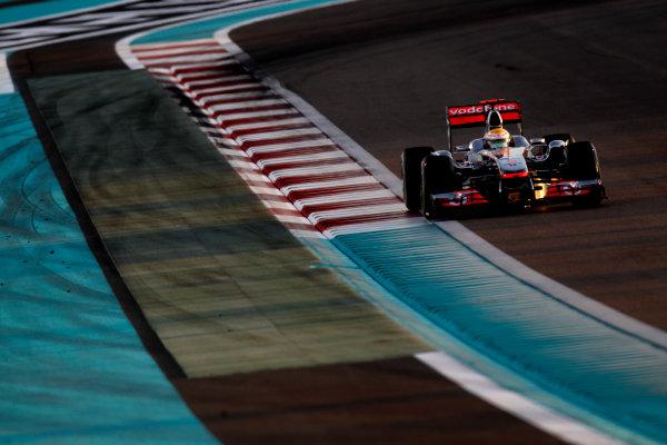 Yas Marina Circuit, Abu Dhabi, United Arab Emirates12th November 2011.Lewis Hamilton, McLaren MP4-26 Mercedes. Action. World Copyright:Glenn Dunbar/LAT Photographic ref: Digital Image _G7C4362