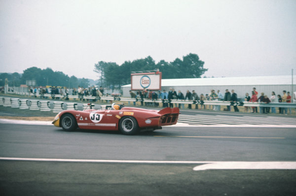 Le Mans, France. 13-14 June 1970 Nanni Galli/Rolf Stommelen (Alfa Romeo T33/3), retired, action. World Copyright: LAT PhotographicRef: 70LM23.