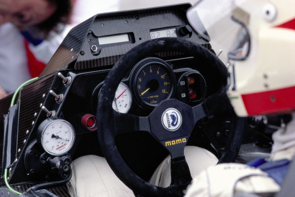 Nelson Piquet's Brabham BT53 BMW cockpit.