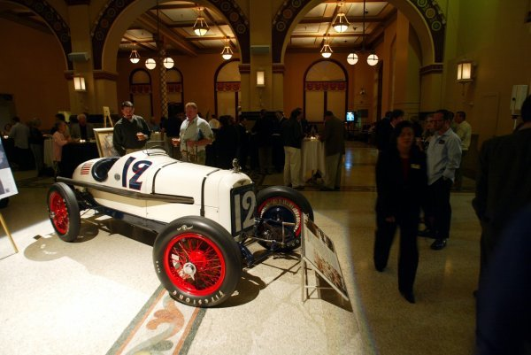 The 1922 Indy 500 winner, the No. 35 Murphy Special, on display at the GP Tours Event in Downtown Indianapolis.
