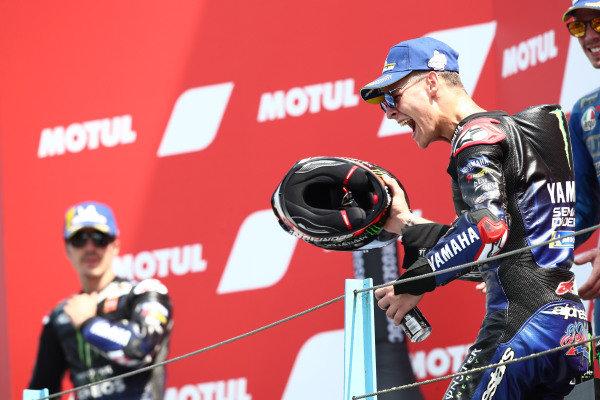 Podium: race winner Fabio Quartararo, Yamaha Factory Racing.