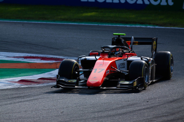 AUTODROMO NAZIONALE MONZA, ITALY - SEPTEMBER 07: Mahaveer Raghunathan (IND, MP MOTORSPORT) during the Monza at Autodromo Nazionale Monza on September 07, 2019 in Autodromo Nazionale Monza, Italy. (Photo by Joe Portlock / LAT Images / FIA F2 Championship)