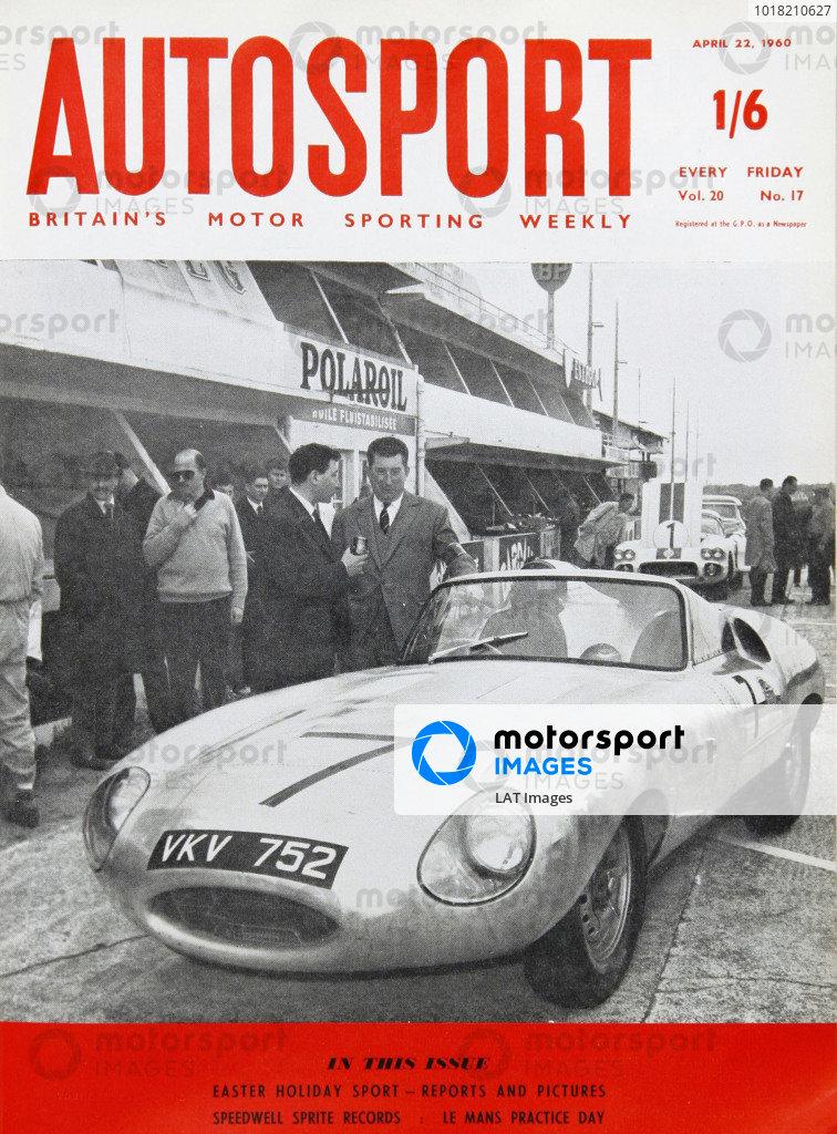 Cover of Autosport magazine, 22nd April 1960