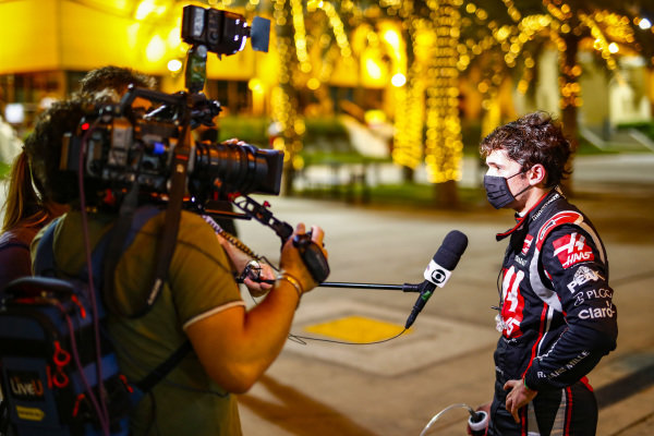 Pietro Fittipaldi, Haas F1, is interviewed