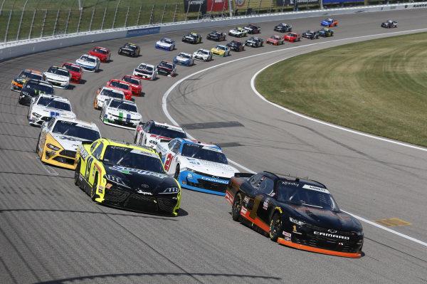 #19: Brandon Jones, Joe Gibbs Racing, Menards/Swiffer Toyota Supra #1: Michael Annett, JR Motorsports, TMC Chevrolet Camaro
