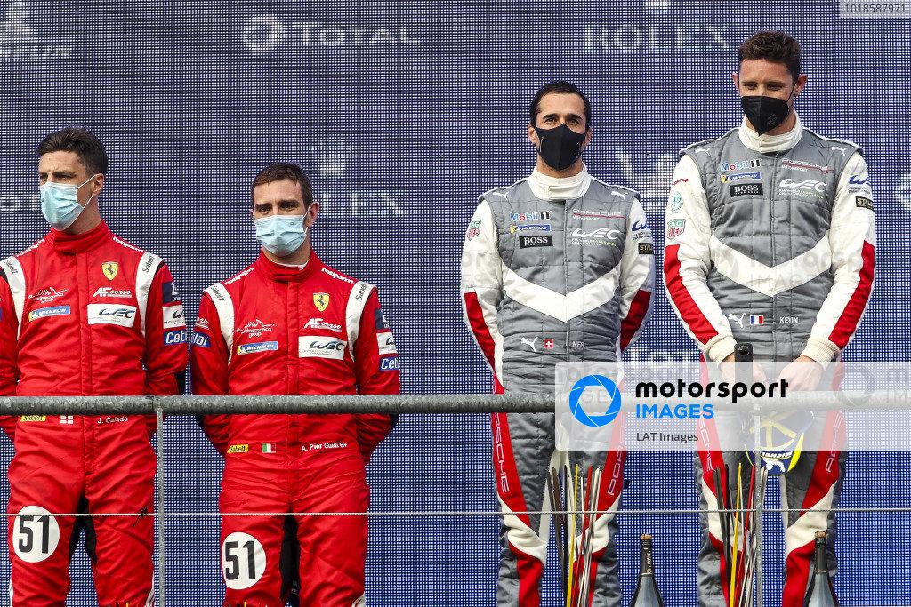 #51 AF Corse Ferrari 488 GTE EVO: Alessandro Pier Guidi, James Calado and #92 Porsche GT Team Porsche 911 RSR - 19: Kevin Estre, Neel Jani