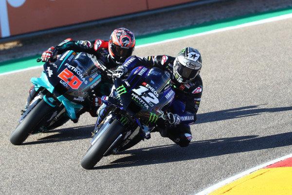 Maverick Vinales, Yamaha Factory Racing,  Fabio Quartararo, Petronas Yamaha SRT.
