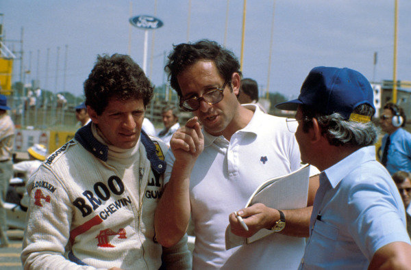 Jody Scheckter in conversation with Mauro Forghieri.