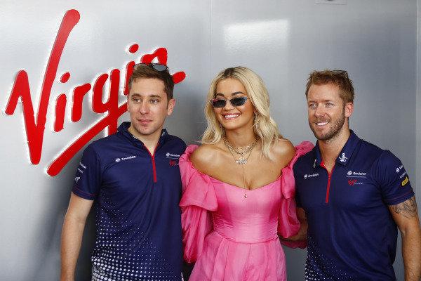 Singer Rita Ora with Robin Frijns (NLD), Envision Virgin Racing and Sam Bird (GBR), Envision Virgin Racing