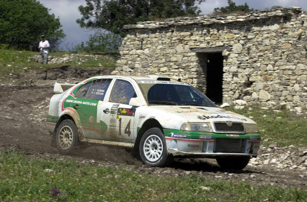 World Rally Championship, Cyprus Rally, April 18-21, 2002.Kenneth Eriksson in action on Stage 17, Leg 3.Photo: Ralph Hardwick/LAT