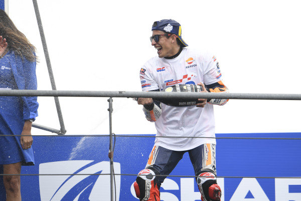 Podium: race winner Marc Marquez, Repsol Honda Team.