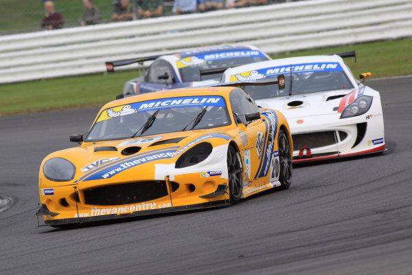 2014 Ginetta GT4 Supercup, Silverstone, England. 27th-28th September 2014. Fraser Robertson (GBR). World Copyright: Ebrey / LAT Photographic.