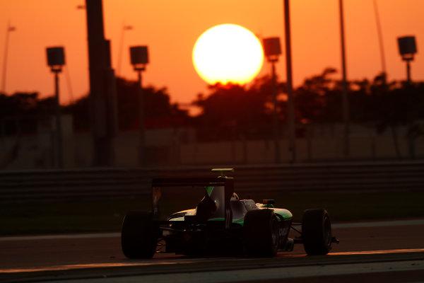 2014 GP3 Series Test 3.   Yas Marina Circuit, Abu Dhabi, United Arab Emirates. Saturday 29 November 2014. Steijn Schothrost (NED, Status Grand Prix)  Photo: Sam Bloxham/GP3 Series Media Service. ref: Digital Image _14P3026