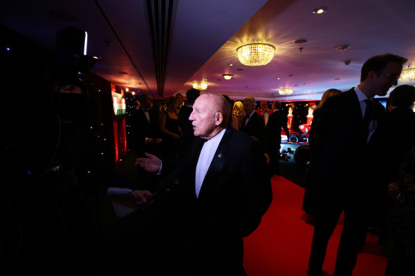 2014 Autosport Awards. Grosvenor House Hotel, Park Lane, London. Sunday 7 December 2014. Sir Stirling Moss. World Copyright: Malcolm Griffiths/LAT Photographic. ref: Digital Image F80P1014