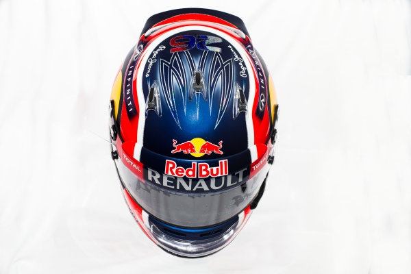 Circuito de Jerez, Jerez, Spain. Tuesday 3 February 2015. Helmet of Daniil Kvyat, Red Bull Racing.  World Copyright: Red Bull Racing (Copyright Free FOR EDITORIAL USE ONLY) ref: Digital Image 2015_RED_BULL_HELMET_05