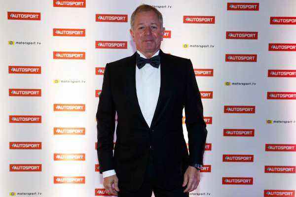 2017 Autosport Awards Grosvenor House Hotel, Park Lane, London. Sunday 3 December 2017. Martin Brundle. World Copyright: Glenn Dunbar/LAT Images Ref: Digital Image _31I1582