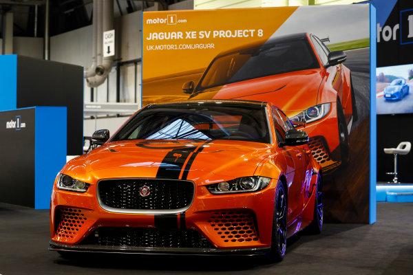 Autosport International Exhibition. National Exhibition Centre, Birmingham, UK. Thursday 11th January 2017. The Jaguar XE SV Project 8.World Copyright: Glenn Dunbar/LAT Images Ref: _X4I4064