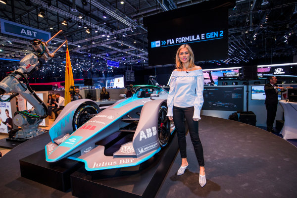 2017/2018 FIA Formula E Championship. Geneva Motor Show Tuesday 6 March 2018. The FIA Formula-E Gen2 car is unveiled. Photo: Sam Bloxham/LAT/Formula E ref: Digital Image _W6I3965