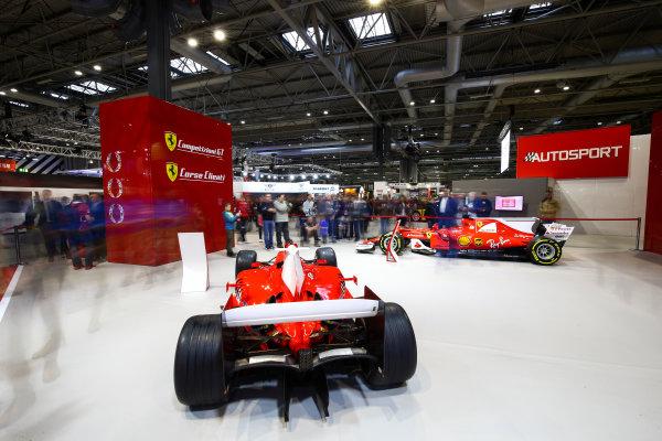 Autosport International Exhibition. National Exhibition Centre, Birmingham, UK. Sunday 14th January 2018. The Ferrari stand.World Copyright: Mike Hoyer/JEP/LAT Images Ref: AQ2Y9719