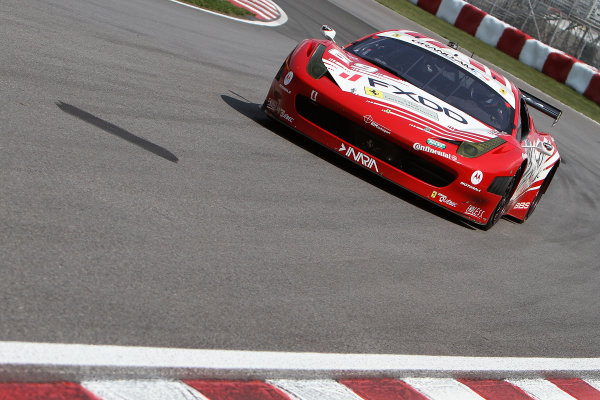 16-18 August, 2012, Montreal, Quebec, CanadaThe #69 Ferrari of Jeff Segal and Emil Assentato is shown in action during practice.(c)2012, R D. EthanLAT Photo USA