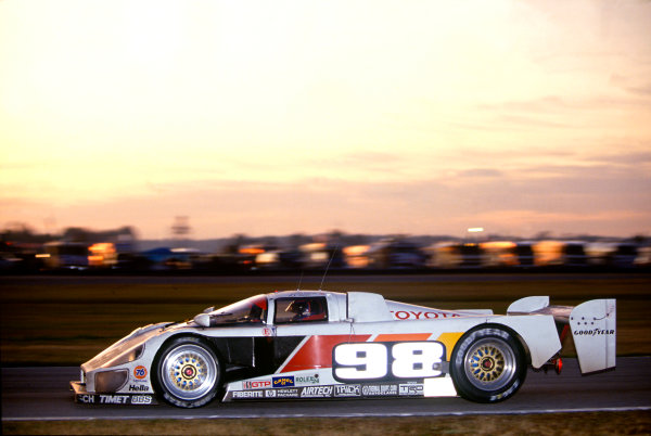 Daytona 24 hours, Florida, USA. 1st - 2nd February 1992.Rocky Moran/P. J. Jones/Mark Dismore (Eagle MkIII Toyota), 4th position, action. World Copyright: LAT PhotographicRef: 92IMSADAY04