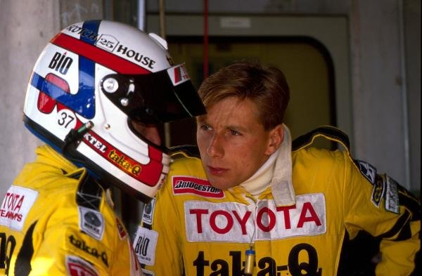 L-R: TOM'S Toyota teammates Geoff Lees (GBR) and Johnny Dumfries (GBR).