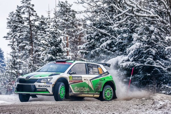 Esapekka Lappi (FIN) / Janne Ferm (FIN), Skoda Motorsport Fabia R5 WRC2 at World Rally Championship, Rd2, Rally Sweden, Day Two, Karlstad, Sweden, 13 February 2016.
