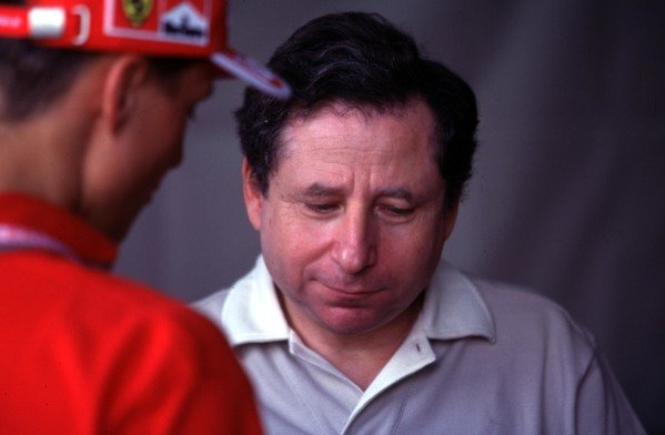 1999 Australian Grand Prix.Albert Park, Melbourne, Australia. 5-7 March 1999.Ferrari Team Principal Jean Todt with Michael Schumacher (Ferrari).World Copyright - LAT Photographic