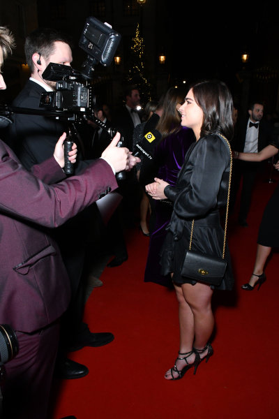 Jamie Chadwick on the red carpet