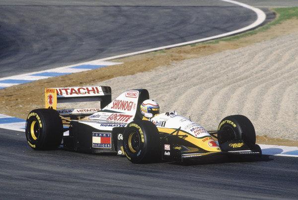 1994 European Grand Prix.Jerez, Spain. 14-16 October 1994.Alessandro Zanardi (Lotus 109 Mugen Honda).  Ref: 94EUR26. World Copyright - LAT Photographic