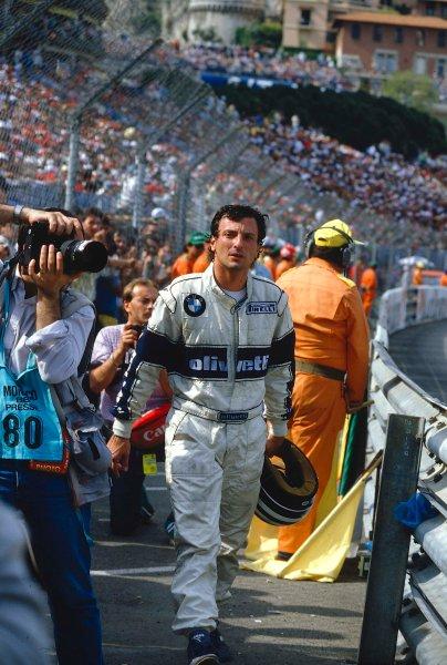 1986 Monaco Grand Prix.Monte Carlo, Monaco.8-11 May 1986.Riccardo Patrese (Brabham BMW).Ref-86 MON 61.World Copyright - LAT Photographic