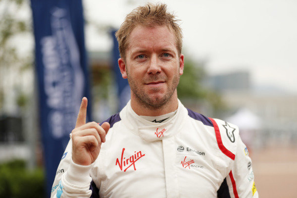Sam Bird (GBR), Envision Virgin Racing, celebrates after the race