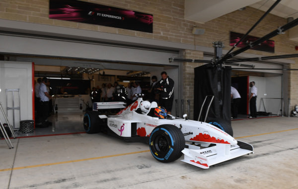 Patrick Friesacher (AUT) F1 Experiences 2-Seater driver at Formula One World Championship, Rd17, United States Grand Prix, Race, Circuit of the Americas, Austin, Texas, USA, Sunday 22 October 2017.