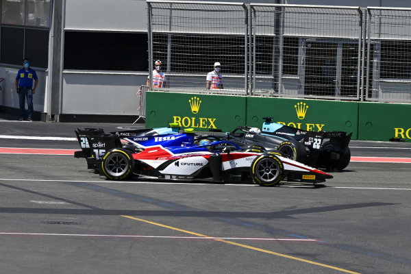 Guilherme Samaia (BRA, Charouz Racing System), Alessio Deledda (ITA, HWA Racelab) and Jack Aitken (GBR, HWA Racelab)