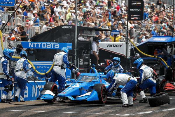 #10: Pit Stop, Alex Palou, Chip Ganassi Racing Honda