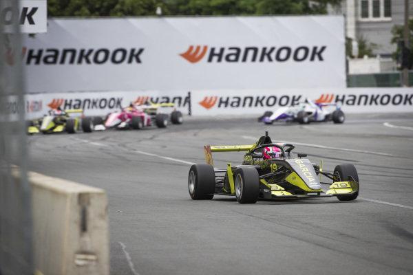 Marta Garcia (ESP) leads the race